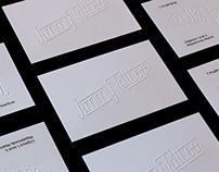 Lettering — Visit card