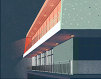 Architecture illustrations for Solar Company magazine