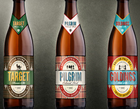 3 UK inspired beers - Beer label design