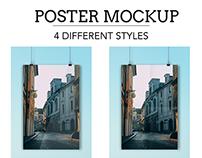 Free Poster Design PSD Mockup