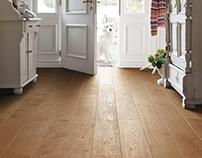 Timber Flooring Plank 1-Strip 4V Oak Puro Caramel Marka