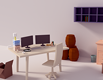 Low poly room practice