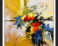 Acrylic on canvas abstract painting