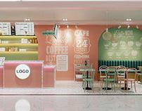Mẫu thiết kế quán trà sữa hiện đại 4x9m tại Côn Đảo