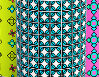 creative geometric Linear patterns set