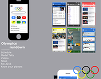 UX interface for the Rio Olympics - made for Android.