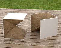 Qbico, exterior table + chair