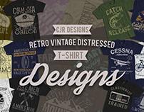 Retro Vintage Distressed Designs