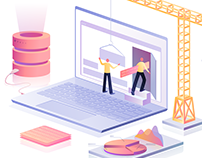 Isometric illustrations for the website