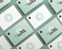 Free PSD Business Card Design Showcase Mockups