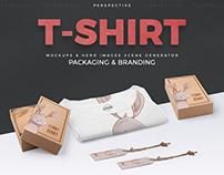 Perspective Tshirt Mockups & Hero Image Scene Generator