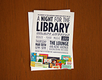 A Night for the Library. Graphic Design.