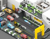 3d car showroom