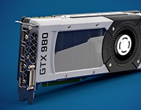 NVIDIA GTX 980 3D Product Visualisation