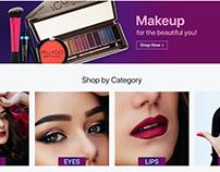 Makeup Landing Page