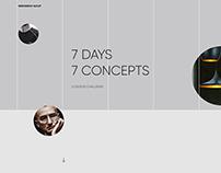 7 days - 7 Concepts - UI Design Challenge