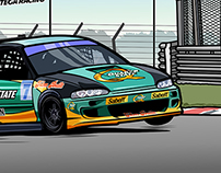 Honda Civic Diego Ortega Racing