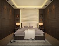 Design a hotel bedroom