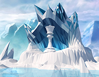 Low Poly-Chess Master(ice Age)