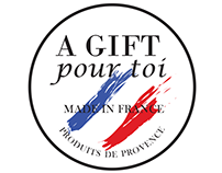 Logo and envelope design for A Gift Pour Toi