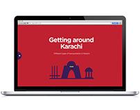 Getting Around Karachi (Mock Website)