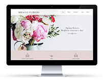 flower shop website concept