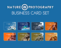 Nature Photography Business Card Template Set