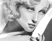 Carole Lombard Portrait