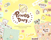 Princess Diary - stickers collection