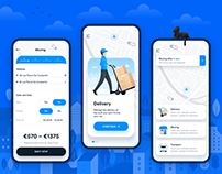Mobile app for moving and delivery