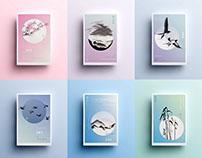 Microseasons of Japan poster series