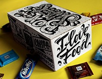 Box of Sweets & Cup / lettering