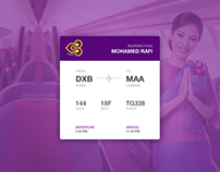 Daily UI Task -  #024 - Boarding Pass UI