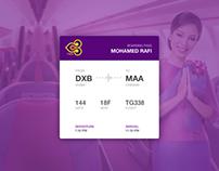 Daily UI Task -  #024 - Boarding Pass UI
