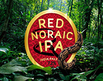 Red IPA Beer Label