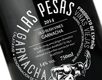 Las Pesas Wine Label