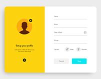 Setup Profile UI