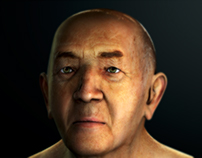 AN OLD MAN 3D MODEL (Head)
