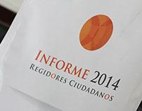 Informe 2014 / Regidores Ciudadanos
