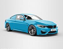 BMW M4 Sportscar Mockup