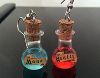 Mana/Health Potion Earrings