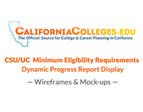 CSU/UC Entry Requirements Progress Report UX/UI Design