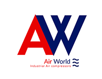 Air World logo design for Air compressors company