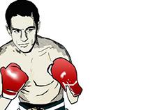 Ilustração vetorial do lutador Eder Jofre