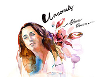 """Watercolor Art for """"Black Flowers"""" Single by Uncomey"""
