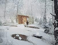 Bungalow winter scene Postproduction tutorial