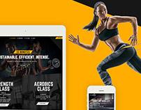 Modern Fitness Web UI/UX Desgn