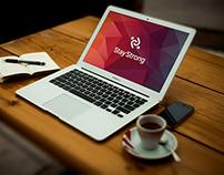 Free Mockup MacBook - PSD - V2