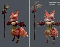 Low poly Fox Druid