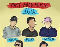 fast food music 100k
